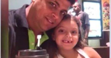 Danilo Soares está sumido com a filha de seis anos há dois meses (Foto: Reprodução/TV Santa Cruz)