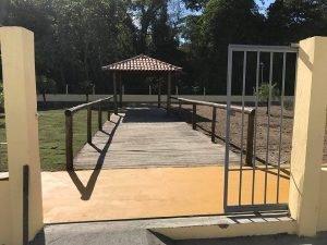 Um portal foi feito para a entrada lateral - Foto Ascom
